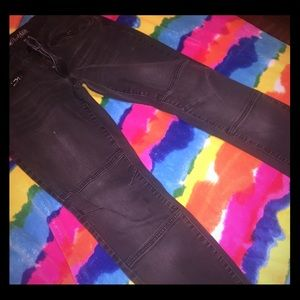 Old Navy Charcoal Moto Jeggings